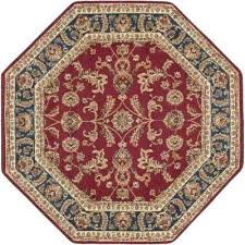 octagon rugs transitional area rug 4x4