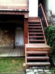 Escalier Marches Bois Sur Mesure De Terrasse En Hauteur Balcon Perron