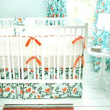 love bird bedding set aqua and orange nursery bananafish love bird
