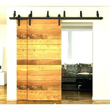 barn door with glass double doors for frosted hardware panel