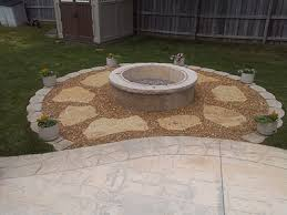 concrete patio with fire pit. If You Are Building A New Patio, Fire Pit Adds Even More Quality Of Concrete Patio With