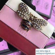 gucci queen margaret. gucci queen margaret metal pearls bee leather card case 476072 white/light pink 2017
