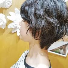 黒髪ショートパーマのレディースヘアカタログ11選ショートボブ前髪