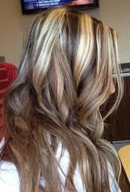 medium hairstyles dark brown hair with highlights bleach blonde hair with dark brown lowlights mwwskm long
