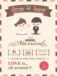 Cartoon Wedding Invitation Cards Designs Cute Wedding Invitation Wedding Invitation Images Wedding