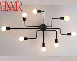 industrial contemporary lighting. Free Shipping Lamp Retro Chandelier Contemporary Lighting Sputnik Design  4-10 Bulbs Industrial Loft Iron Vintage Pendant Rustic Decor D