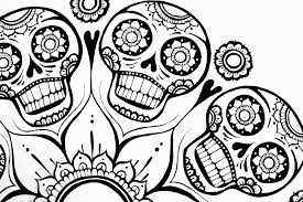 Small Picture Print Sugar Skull Adult Flower Coloring Pages Coloring Pages