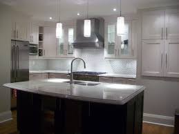Light Gray Cabinets Kitchen Gorgeous Light Gray Kitchen Cabinets Under White Pendant Lamps