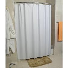 forester 8 gauge vinyl shower curtain white