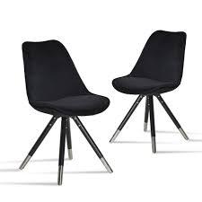 Stuhl Schwarz Samt Stuhl Orso Schwarz Schwarz Ml It