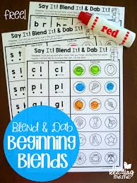 Blend & Dab Beginning Blends Worksheets - This Reading Mama