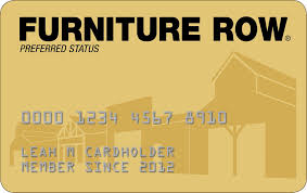 Furniture Row Credit Card Your Information