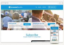 new health insurance website project for connected benefits health insurance website design