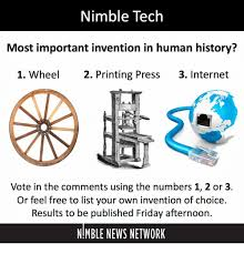 Nimble Tech Most Important Invention In Human History 1 Wheel 2
