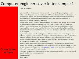 Computer Engineering Cover Letters Computer Engineer Cover Letter