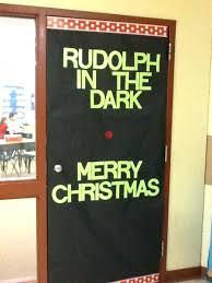 christmas office door decorating. Christmas Office Door Decorating Ideas Funny The Red Nose Reindeer Decoration