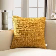 yellow throw pillows