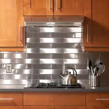 ... Stainless Steel Subway Tile Kitchen Backsplash O. Full Size Of Stainless  Steel Backsplash ...