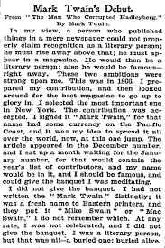 mark twain and essays mark twain advice to youth 1882 virginia