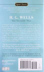 the invisible man signet classics h g wells w warren wagar  the invisible man signet classics h g wells w warren wagar scott westerfeld 9780451531674 com books