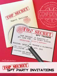 Birthday Invitations Printable Printable Spy Party Invitations Onecreativemommy Com