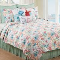 coastal quilt sets. Sea Reef Quilt Bedding Collection Coastal Sets