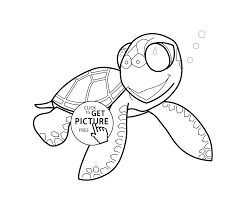 Small Picture Little turtle cartoon animals coloring pages for kids printable