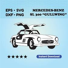 404 x 480 png 88 кб. Vintage Car Svg Files For Cricut Mercedes Benz Sl 300 Etsy