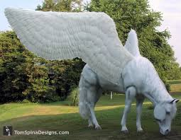 life size unicorns life size horse prop pegasus statue tom spina designs tom spina