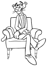 Coloriage Panthere Rose Gentleman Imprimer Sur Coloriages Info