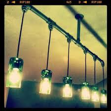 jameson whiskey bottle chandelier