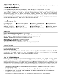 Resume Template For Executive Director Non Profit Inspirationa