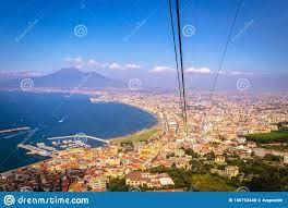 View Of Castellammare Di Stabia And Mount Vesuvius And The Bay Of Naples,  Naples Napoli Stock Photo - Image of mount, landmark: 186792440
