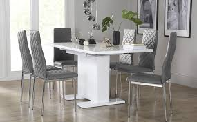 excellent white table chairs white dining sets furniture choice pertaining to grey and white dining chairs attractive