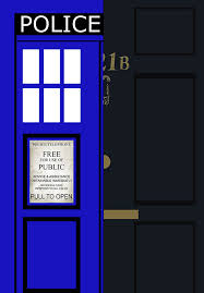 sherlock 221b baker street and doctor who tardis art wall art print poster e art geekery