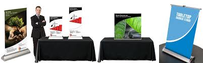 Tabletop Banner Stand Display Table Top Banner Stands Power Graphics PowerGraphics 2