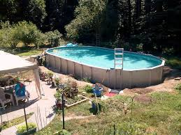 rectangle above ground pool sizes. Above Ground Pool With Light Blue Rubber Floor In The And White Ladder Installed Rectangle Sizes
