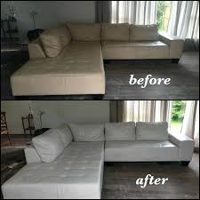 how to dye leather couch off white leather sectional color changed to bright white before and how to dye leather