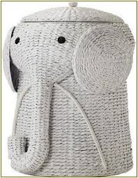 Full Image for Wonderful Elephant Wicker Hamper 32 Wicker Elephant Hamper  White Elephant Laundry Basket ...