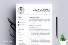 Professional Resume Cv Template Resume Templates Creative Market