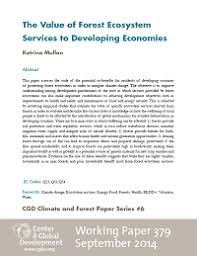 the value of forest ecosystem services to developing economies  the value of forest ecosystem services to developing economies working paper 379