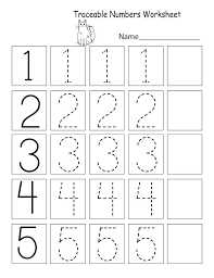 Kindergarten Worksheets On Worksheet Counting Valid Trace And Write ...