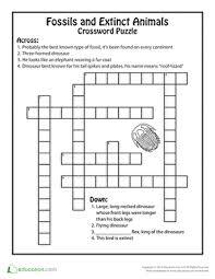What Circles In A Venn Diagram Do Crossword Clue Extinct Animals And Fossils Crossword Extinct Animals