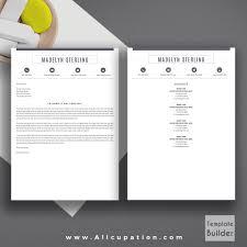 Best Selling Resume Bundle The Hannah Rb Cv Bundle Cover Letter