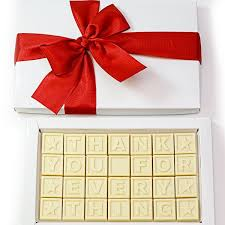 white chocolate personalised gifts delivered sydney