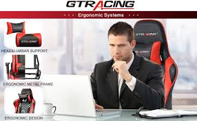GTRACING <b>Gaming Chair Racing</b> Office Computer, Black/Red ...