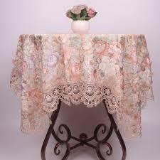 Curcya Vintage Stil Floral Satin Tischdecke Für Esszimmer