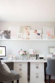 gray home office. Pink \u0026 Gray Home Office Photography: Deborah Zoe Photography - Www.facebook.com/deborahzoephotography Read More: .