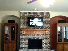 how to mount tv above fireplace brick hide wires