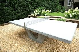 concrete ping pong table blends sport and art concrete ping pong table